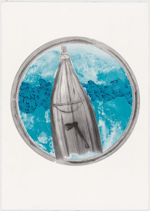 Megan Cope, 'The Black Napoleon (Kundul Canoe)