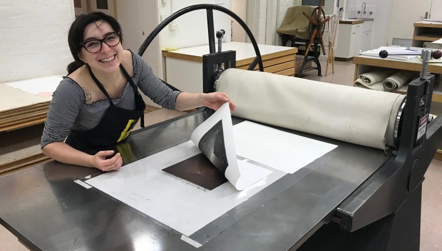 Jessie Balletta in the APW studio March 2019